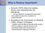why is fluency important