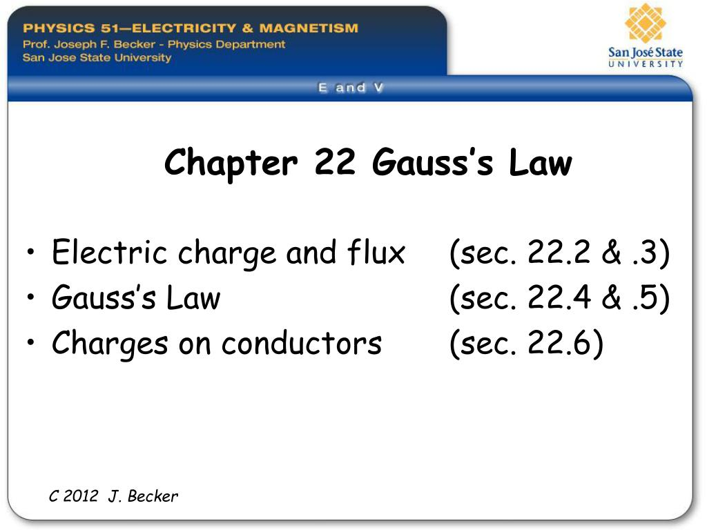 chapter 22 gauss s law l.