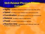 skill related physical fitness components