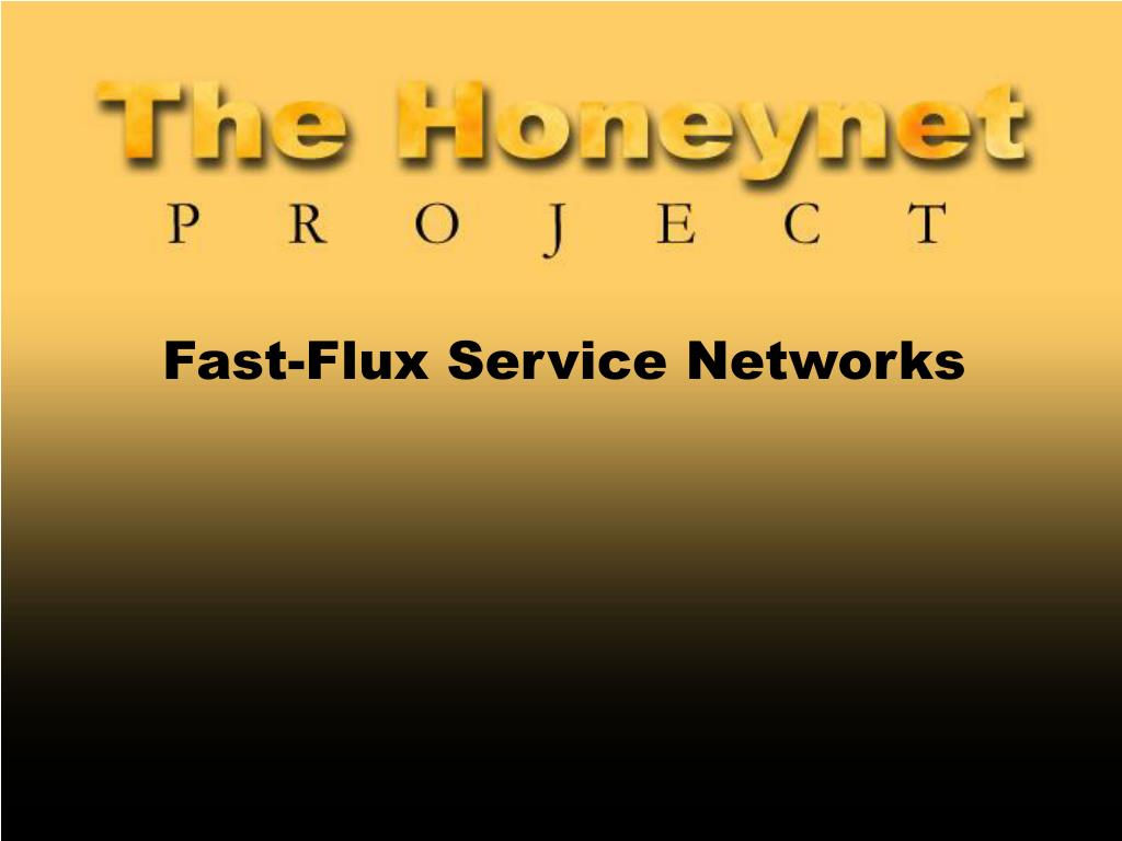 fast flux service networks l.