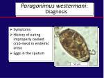 paragonimus westermani diagnosis