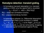 homodyne detection transient grating