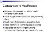 comparison to mapreduce
