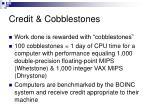 credit cobblestones
