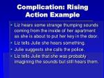 complication rising action example