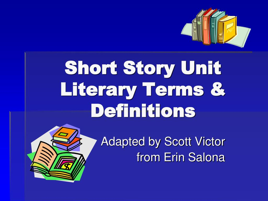 short story unit literary terms definitions l.