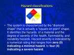 hazard classifications