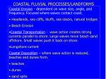 coastal fluvial processes landforms
