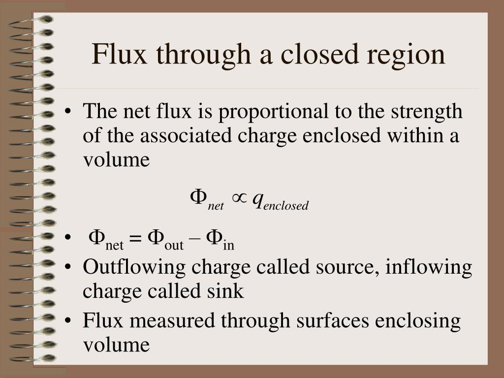 flux through a closed region l.