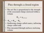 flux through a closed region
