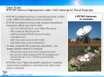 case study ipstar service deployment under uso subsidy for rural australia