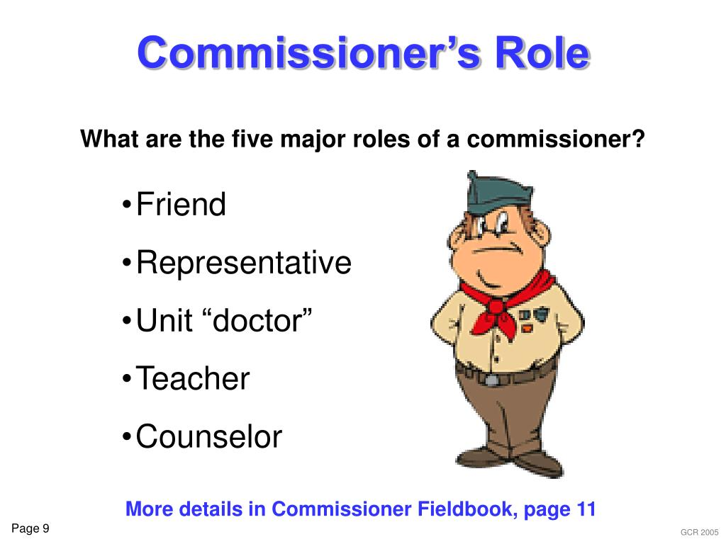 Commissioner's Role