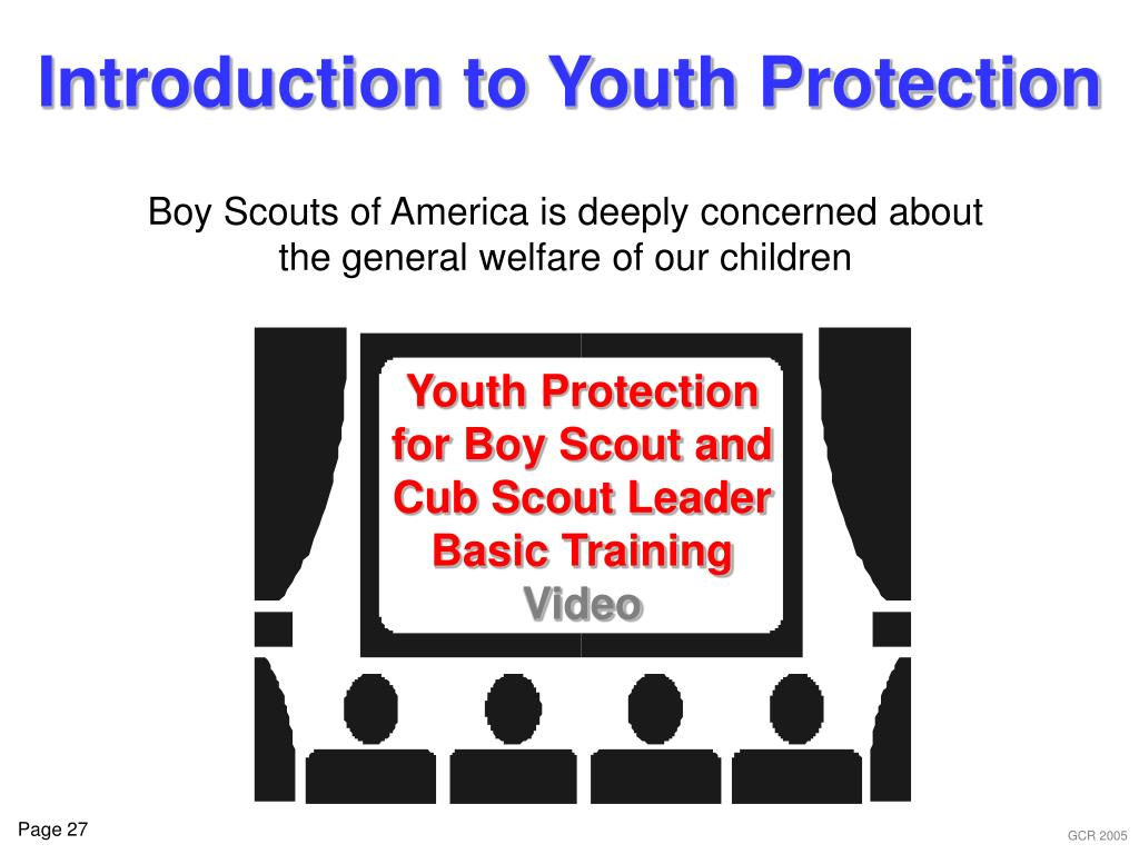 Youth Protection for Boy Scout and Cub Scout Leader Basic Training