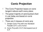 conic projection