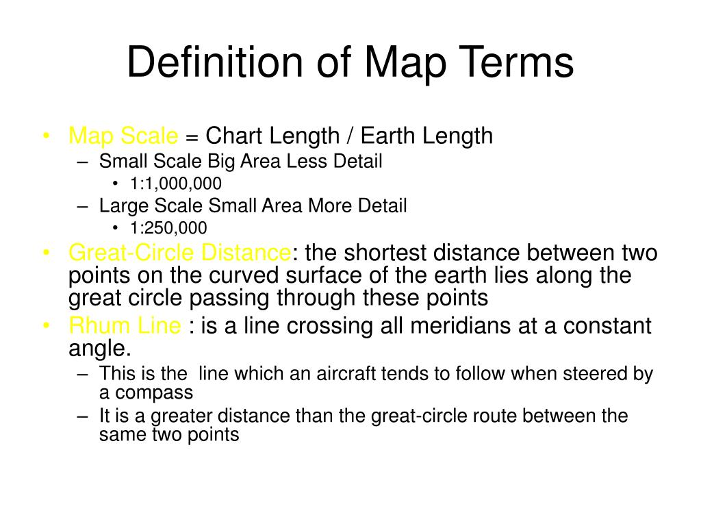 definition of map terms l.