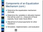 components of an equalization mechanism cont