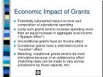 economic impact of grants
