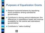 purposes of equalization grants