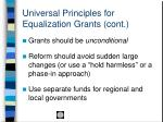 universal principles for equalization grants cont22