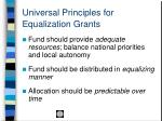 universal principles for equalization grants