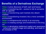 benefits of a derivatives exchange