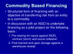 commodity based financing