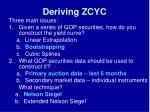 deriving zcyc