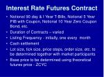 interest rate futures contract