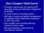 zero coupon yield curve