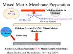 mixed matrix membrane preparation