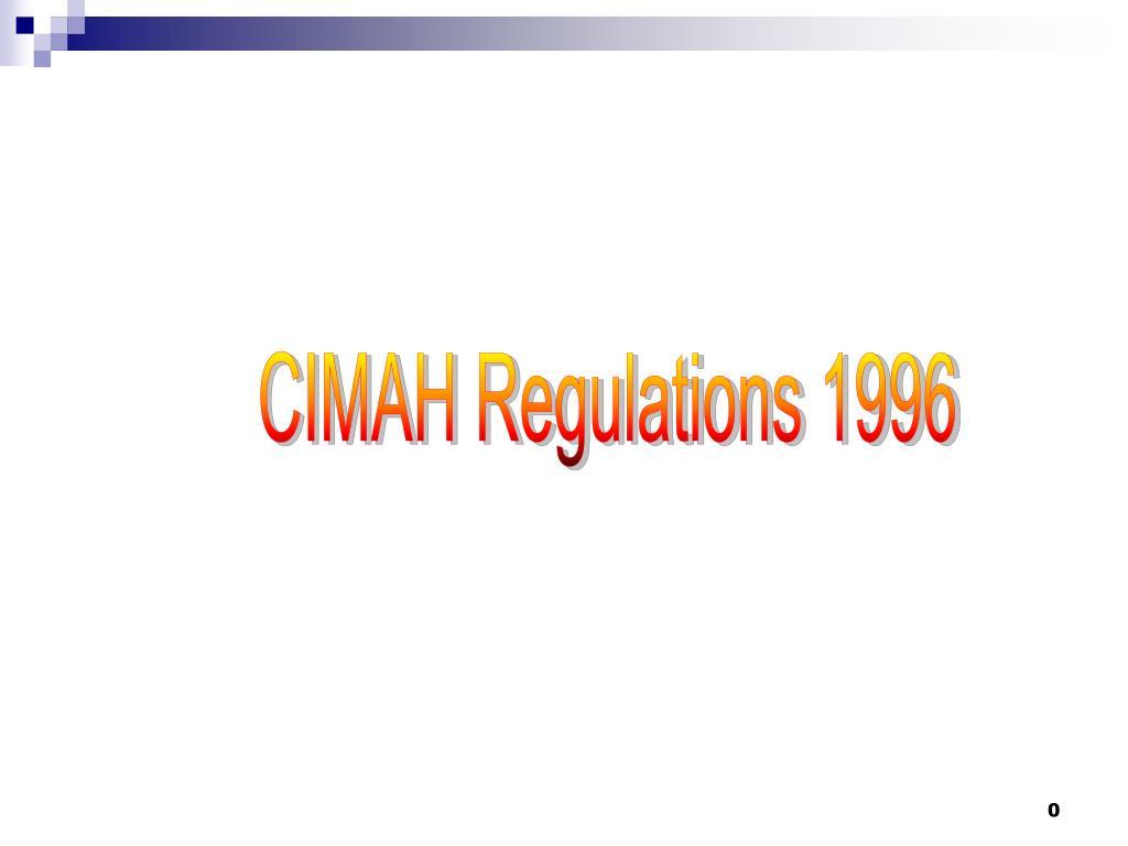 PPT - CIMAH Regulations 1996 PowerPoint Presentation - ID:336857