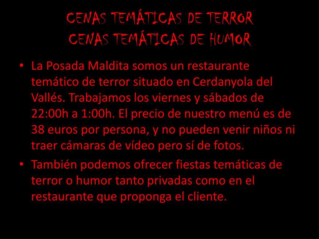 CENAS TEMÁTICAS DE TERROR