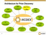 architecture for price discovery