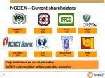 ncdex current shareholders