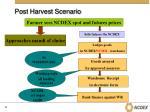 post harvest scenario