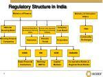 regulatory structure in india