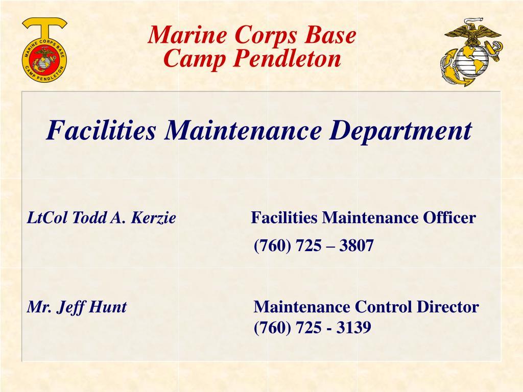 marine corps base camp pendleton l.