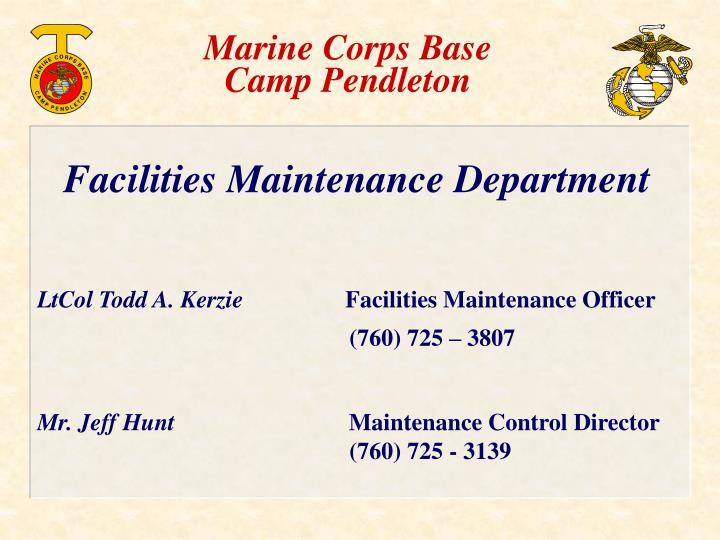 marine corps base camp pendleton n.
