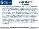case study 4 review