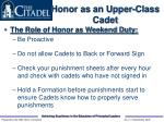 honor as an upper class cadet14