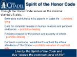 spirit of the honor code
