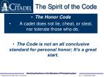 the spirit of the code