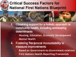 critical success factors for national first nations blueprint27