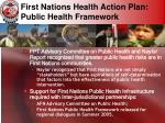 first nations health action plan public health framework