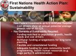first nations health action plan sustainability