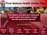 first nations health action plan