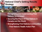 national chief s getting results strategy