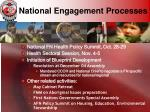 national engagement processes