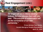 real engagement ctd