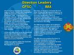 direction leaders cfsc ima